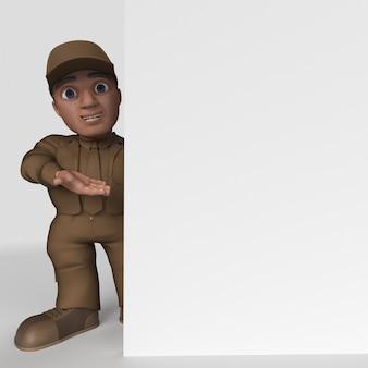 Pilote de livraison de dessin animé 3d