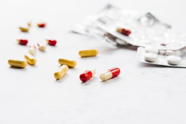 Pilules avec ampoules