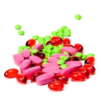 Pilules sur un blanc