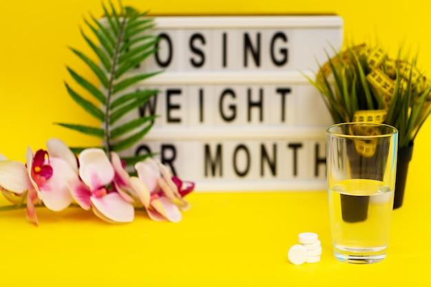 Pilules effervescentes blanches pour une perte de poids rapide