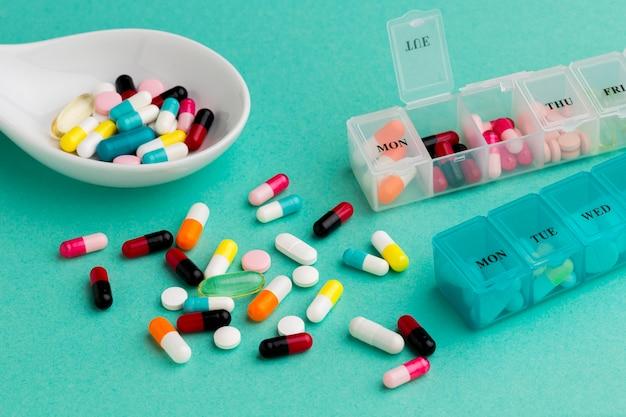 Pilules de gros plan pour le traitement