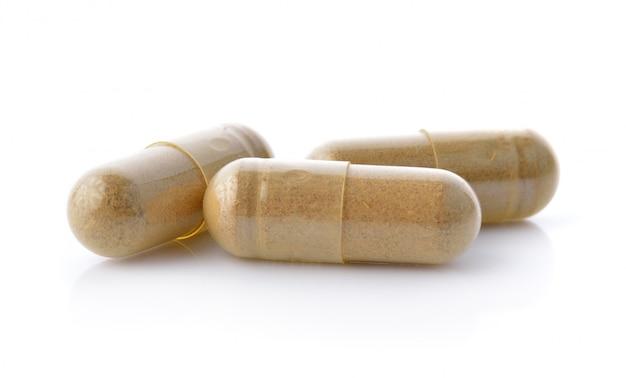 Pilules de médecine sur fond nwhite