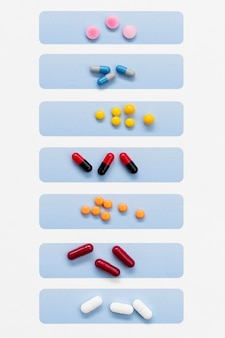 Pilules organisées par jour