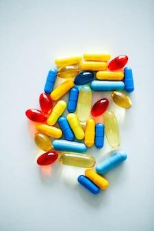 Pilules de puissance médicale pour la santé sexuelle en capsules.