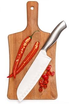 Piment et couteau
