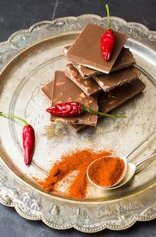 Piment rouge au chocolat et aux épices