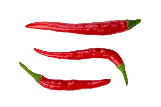 Piments isolés