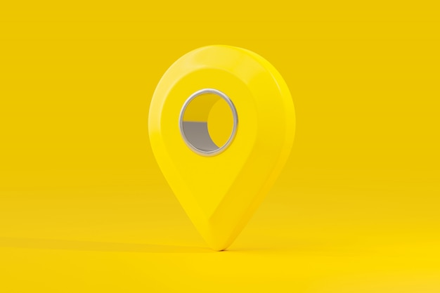 Pin carte couleur jaune