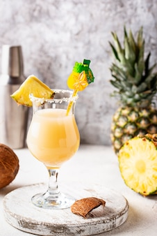 Pina colada, cocktail traditionnel des caraïbes