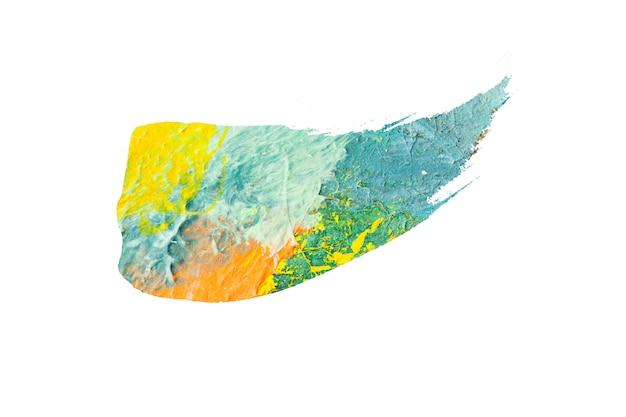Pinceau abstrait texturé isolé