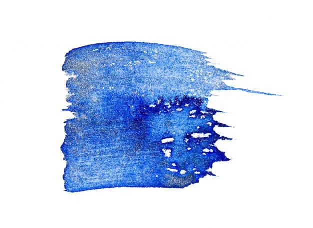 Pinceau aquarelle bleu