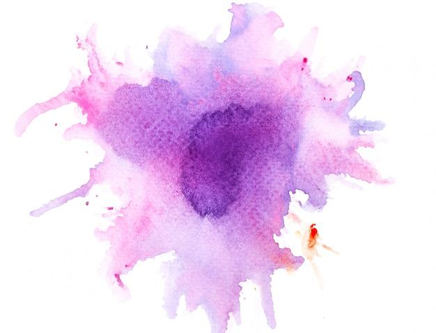 Pinceau aquarelle violet sur paper.image