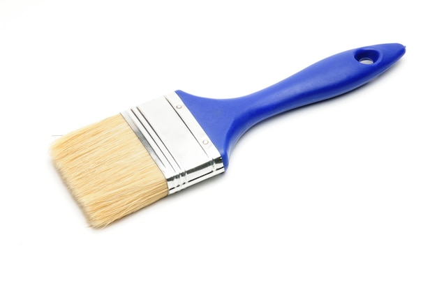 Pinceau bleu isolé