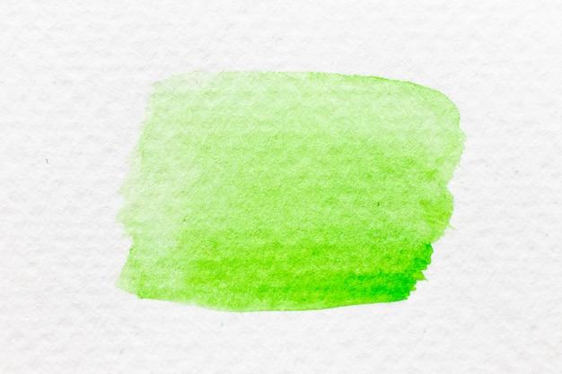 Pinceau de dessin à la main aquarelle couleur verte