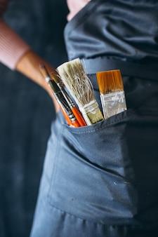 Pinceaux dans la poche se bouchent