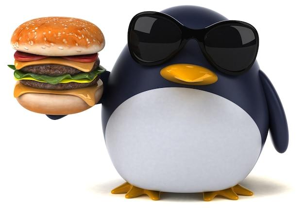 Pingouin amusant - illustration 3d
