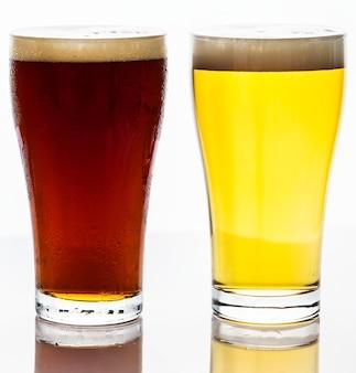 Pintes de bière macro