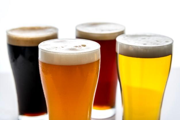 Pintes de macrophotographie de bière
