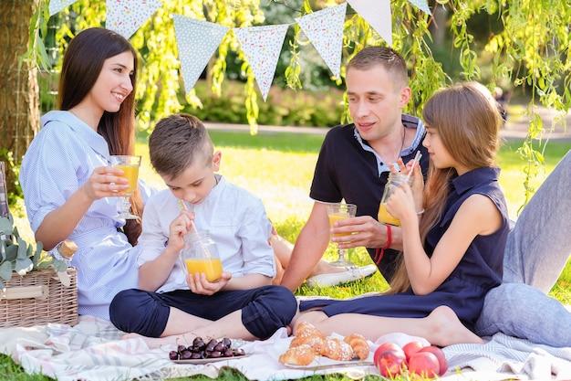Pique-nique en famille