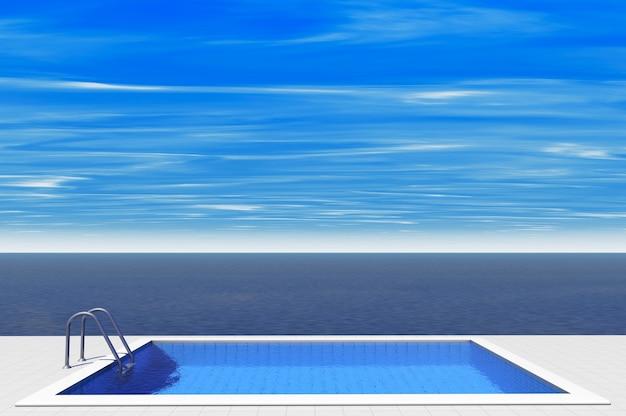 Piscine de luxe face à la mer