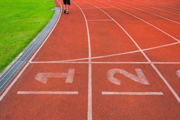 Piste d'athlète ou de course avec belle scénique