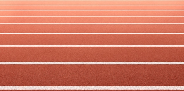 Piste de course d'athlète. vue latérale et angle de gros plan.
