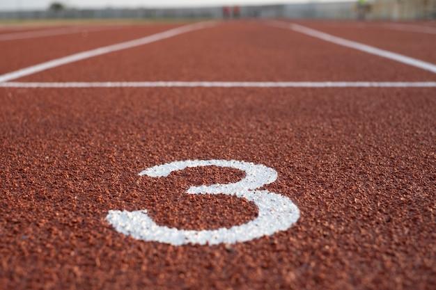Piste et course, piste de course pour les athlètes, piste d'athlète ou piste de course