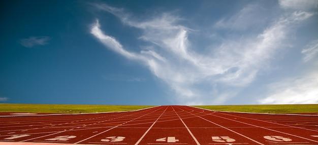 Piste de course pour les athlètes, piste d'athlète ou piste de course