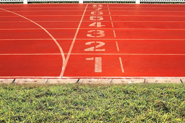 Piste de jogging dans le stade