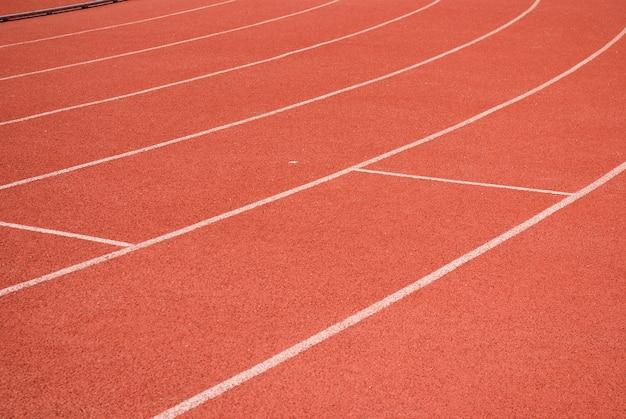 Pistes d'athlétisme sur le stade