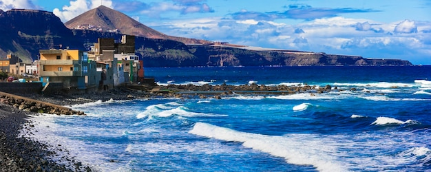 Pittoresque village côtier de san andres dans la partie nord de la grande canarie, îles canaries