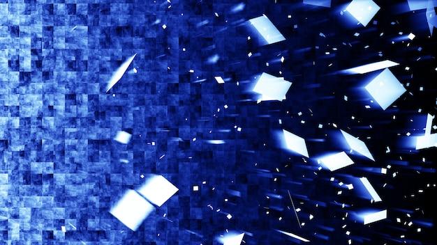 Pixel bleu en arrière-plan en mouvement