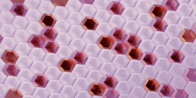 Le pixel hexagonal bloque la technologie fond abstrait concept de scène moderne illustration 3d