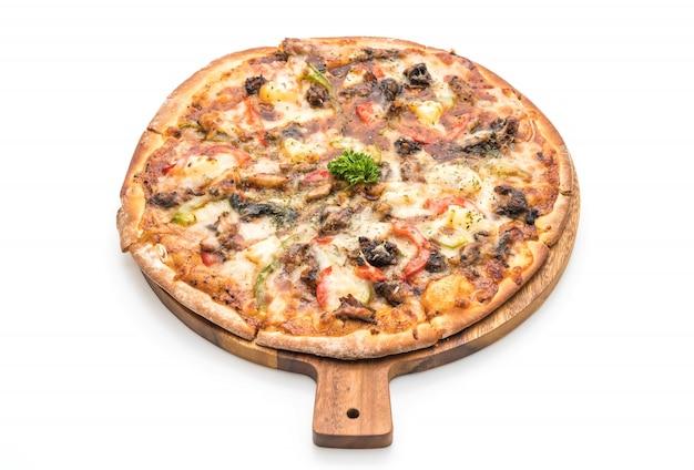 Pizza au porc barbecue