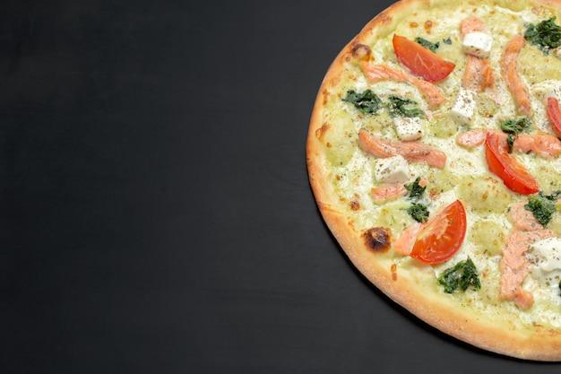 Pizza au tableau noir