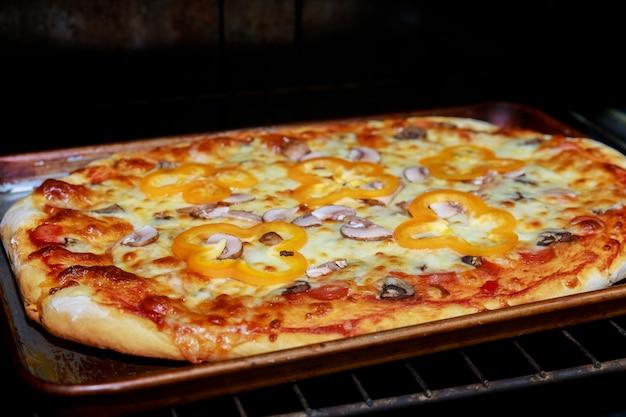 Pizza cuire au four