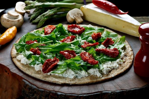 Pizza à la farine de blé entier