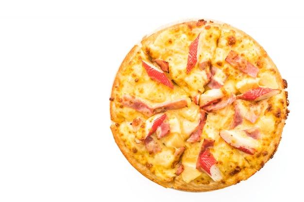 Pizza fruits de mer hawaïens