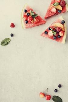Pizza à la pastèque