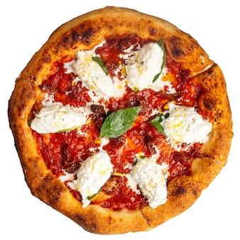 Pizza stracciatella buffalo isolée