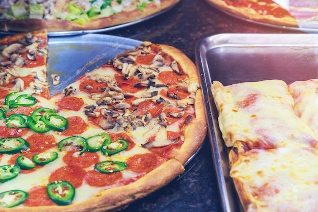 Pizzeria du restaurant à manhattan à new york.