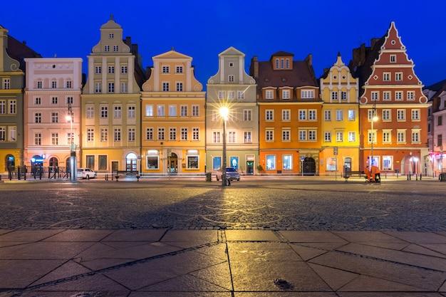 Place du marché à wroclaw, pologne