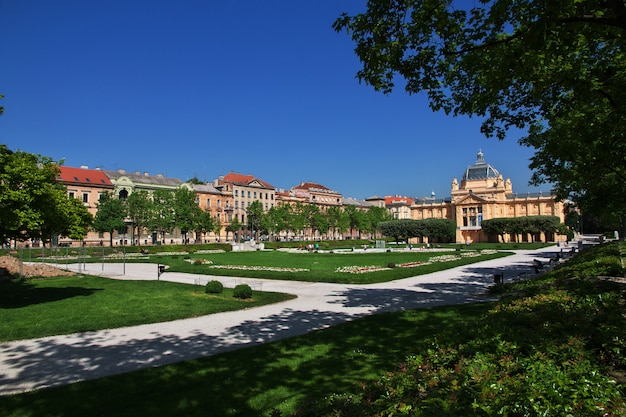 Place du roi tomislav, zagreb, croatie