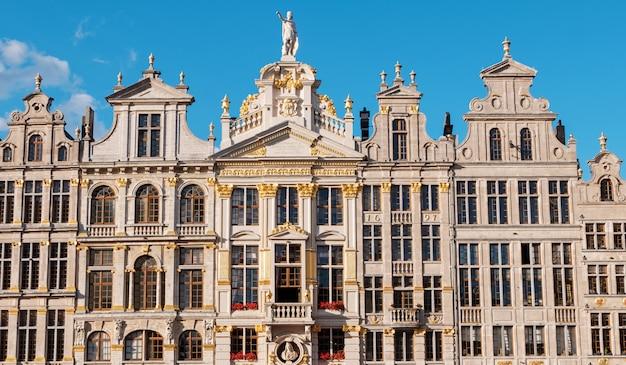 Place de la grand place et bâtiments à bruxelles, belgique