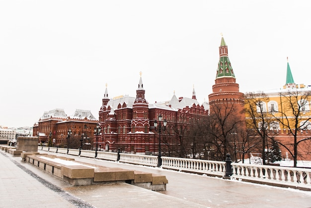 Place rouge, hiver. moscou, russie.