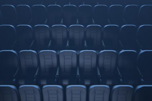 Des places libres. salle de cinéma sans personnes.