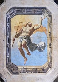 Plafond christ jésus peinture résurrection catholique