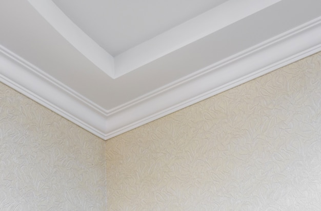 Plafond à deux niveaux. réparation interne de l'appartement