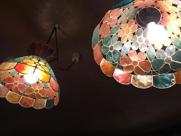 Plafonniers en verre mosaïque