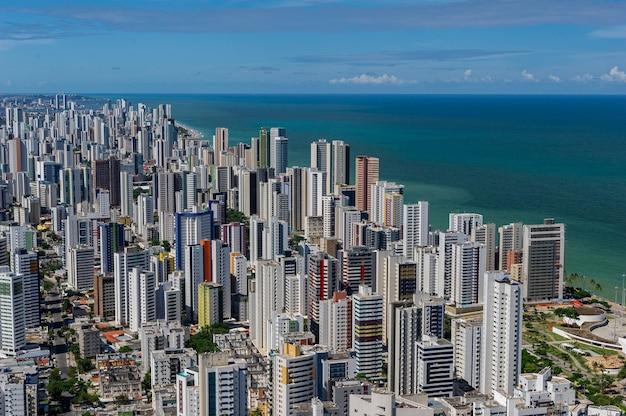 Plage de boa viagem recife pernambuco brésil vue aérienne